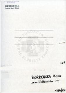 Borkowska Maria
