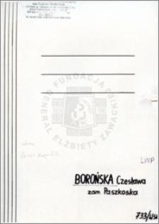 Borońska Czesława