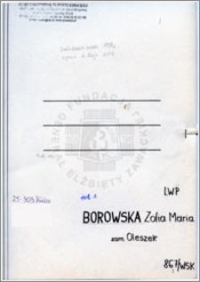 Borowska Zofia Maria