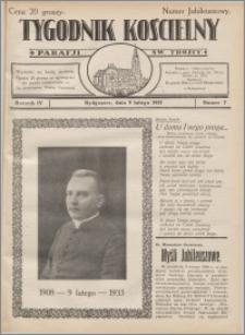 Tygodnik Kościelny Parafii św. Trójcy 1933.02.09 nr 7