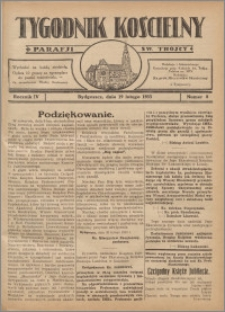 Tygodnik Kościelny Parafii św. Trójcy 1933.02.19 nr 8