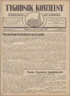 Tygodnik Kościelny Parafii św. Trójcy 1933.02.26 nr 9