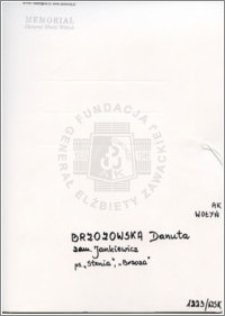 Brzozowska Danuta