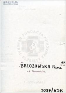 Brzozowska Maria