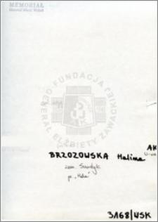 Brzozowska Halina