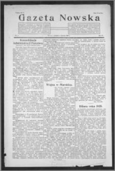 Gazeta Nowska 1926, R. 3, nr 1