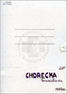 Chorecka Bronisława