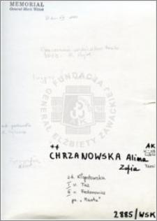 Chrzanowska Alina