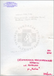 Ciechanowicz Krzyżanowska Wiktoria