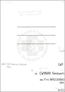 Cwynar Genowefa