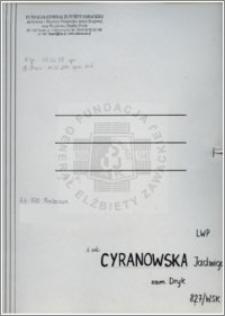 Cyranowska Jadwiga