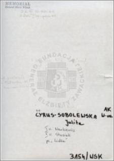 Cyrus Sobolewska Julita