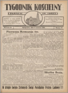 Tygodnik Kościelny Parafii św. Trójcy 1933.06.04 nr 23
