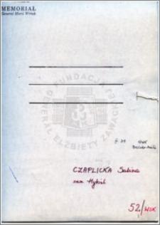 Czaplicka Sabina