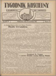 Tygodnik Kościelny Parafii św. Trójcy 1933.09.10 nr 37