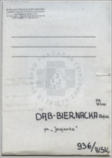Dąb Biernacka Zofia