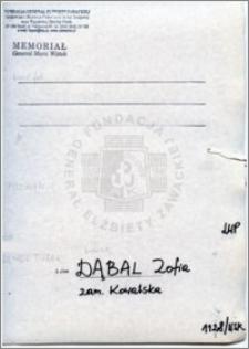 Dąbal Zofia