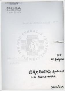 Dąbrowska Apolonia