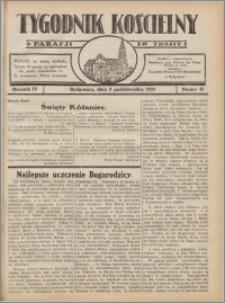 Tygodnik Kościelny Parafii św. Trójcy 1933.10.08 nr 41