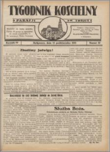 Tygodnik Kościelny Parafii św. Trójcy 1933.10.15 nr 42