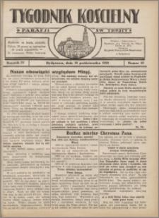 Tygodnik Kościelny Parafii św. Trójcy 1933.10.22 nr 43