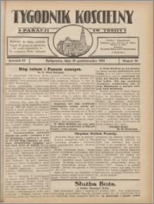 Tygodnik Kościelny Parafii św. Trójcy 1933.10.29 nr 44