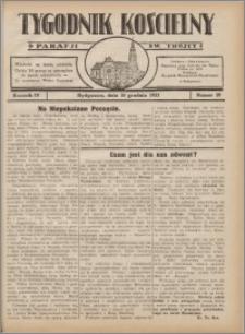 Tygodnik Kościelny Parafii św. Trójcy 1933.12.10 nr 50