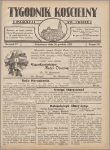 Tygodnik Kościelny Parafii św. Trójcy 1933.12.24 nr 52