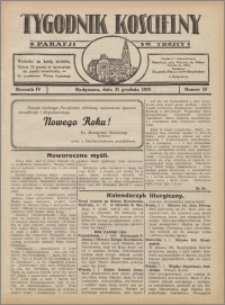 Tygodnik Kościelny Parafii św. Trójcy 1933.12.31 nr 53