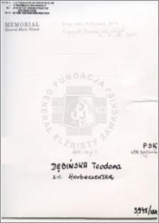 Dębińska Teodora