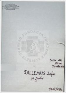 Dillenius Zofia