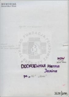 Dodajewska Hanna Janina