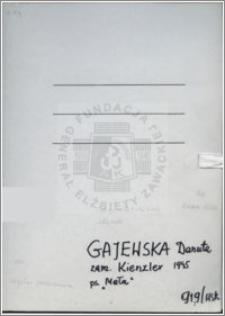 Gajewska Danuta