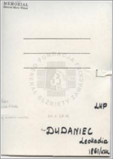 Dubanowicz Leokadia