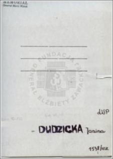 Dudzicka Janina