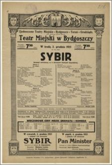 [Afisz:] Sybir. Dramat narodowy w 4 obrazach Gabryeli Zapolskiej