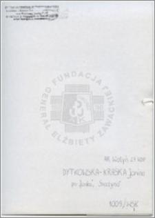 Dytkowska Kraśka Janina