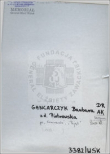 Gancarczyk Barbara