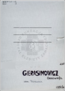 Gierasimowicz Genowefa