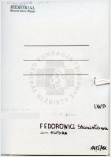 Fedorowicz Stanisława