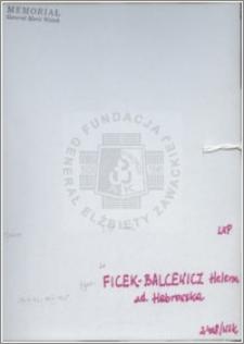 Ficek Balcewicz Helena