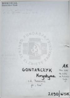 Gontarczyk Krystyna