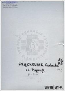Frackowiak Gertruda