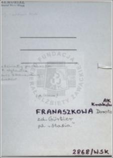 Franaszkowa Dorota