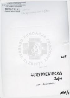 Hryniecka Zofia