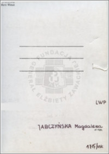 Jabczyńska Magdalena