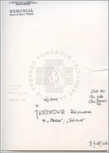 Justynowa Kazimiera