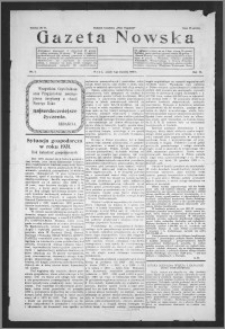 Gazeta Nowska 1932, R. 9, nr 1 + dodatek