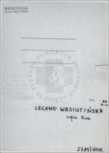 Lechno Wasiutyńska Zofia Ewa