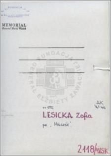 Lesicka Zofia